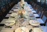 A long table was the principal place where the guests enjoyed the food,